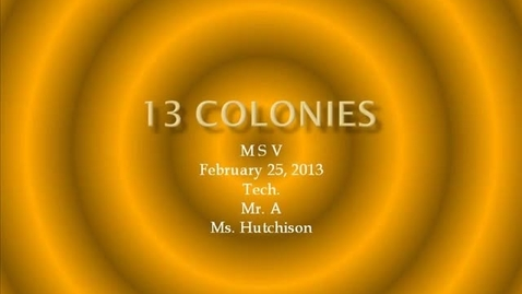 Thumbnail for entry MSV Hutchison Boy 13 colonies