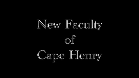 Thumbnail for entry New Faculty at Cape Henry