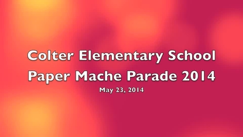 Thumbnail for entry Paper Mache Parade 2014