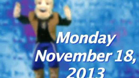 Thumbnail for entry Monday, November 18, 2013