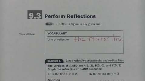 Thumbnail for entry Geom 9.3 Perform Reflections
