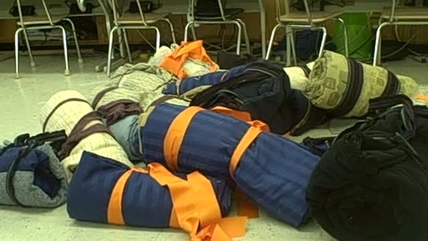 Thumbnail for entry Sleeping Bags for the Homeless Distribution Day