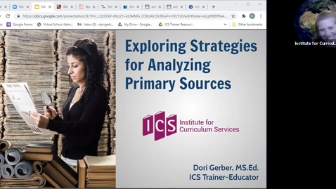 Thumbnail for entry FCSS Spring Virtual Conference Session: Exploring Strategies for Analyzing PrimarySources