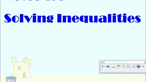 Thumbnail for entry 1.4 Solving Inequalities using various notations