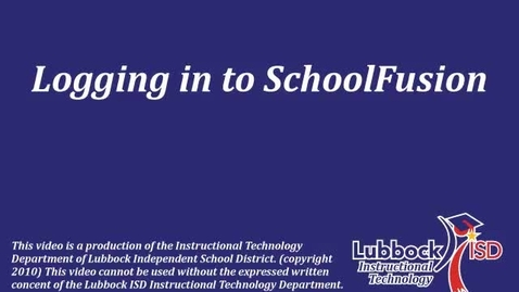 Thumbnail for entry SchoolFusion: Logging In