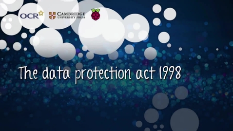 Thumbnail for entry The data protection act 1998