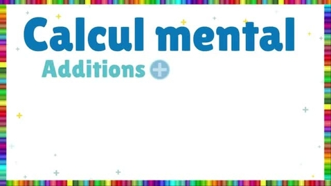Thumbnail for entry Calcul mental - additions et soustractions - Milliers (F2)