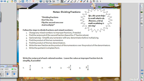 Thumbnail for entry Dividing Fractions