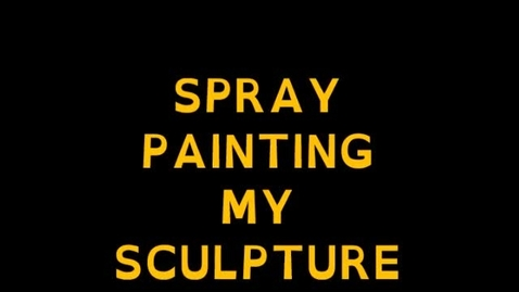 Thumbnail for entry Spray paintng my assemblage sculpture white