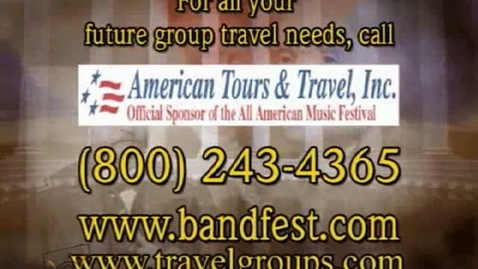 Thumbnail for entry Book your next  STUDENT CLASS TRIP with American Tours & Travel