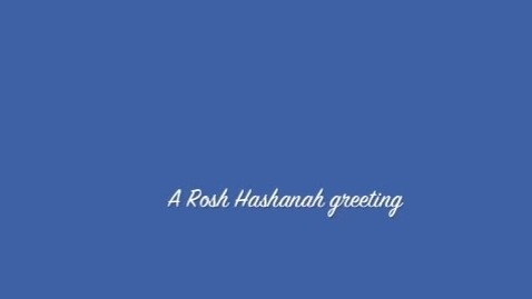 Thumbnail for entry Rosh Hashanah Greetings from Bialik Hebrew Day School