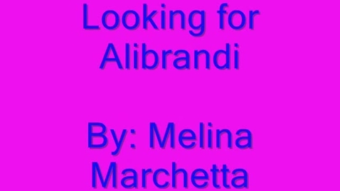 Thumbnail for entry looking for Alibrandi