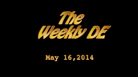 Thumbnail for entry Weekly De 5-16-2014