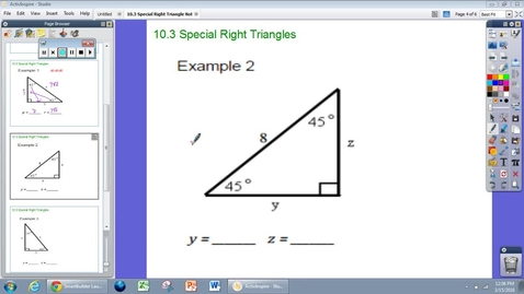 Thumbnail for entry Special Right Triangles Example #2