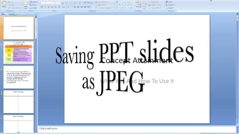 Thumbnail for entry Saving PowerPoint Slides as JPEG