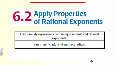 Thumbnail for entry Simplifying Radicals with Variables