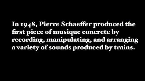 Thumbnail for entry Pierre Schaeffer - Etude aux chemins de fer 1948