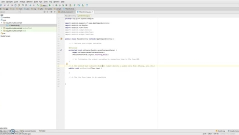 Thumbnail for entry Wiring a Widget in Android Studio