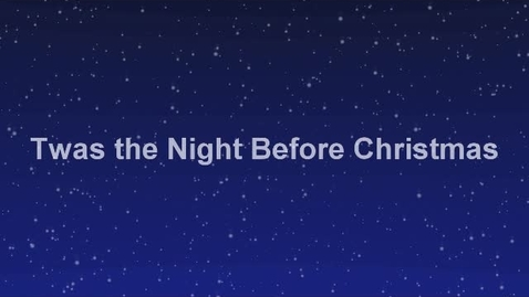 Thumbnail for entry night before x - mas
