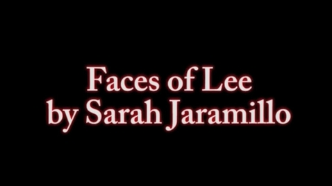 Thumbnail for entry Faces of lee oct 2nd