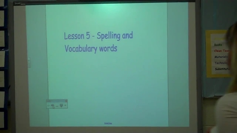Thumbnail for entry 4th/Lesson 5 - Spelling and Vocabulary