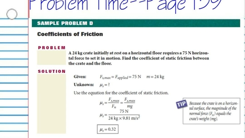 Thumbnail for entry Calculating with Friction Coefficients