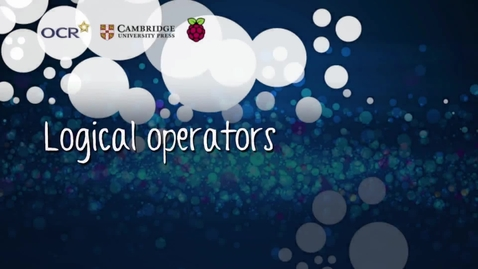 Thumbnail for entry Logical operators - Part A