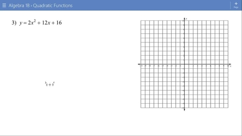 Thumbnail for entry Algebra 1B Lesson 15 #3