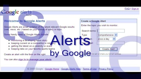 Thumbnail for entry Google Alerts How To