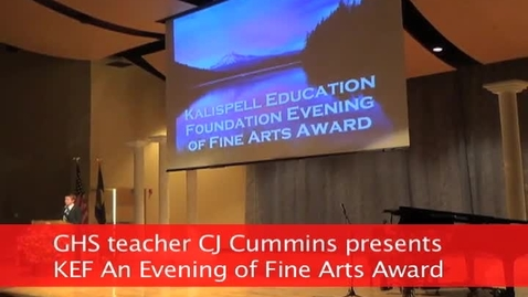 Thumbnail for entry KEF An Evening of Fine Arts award at GHS