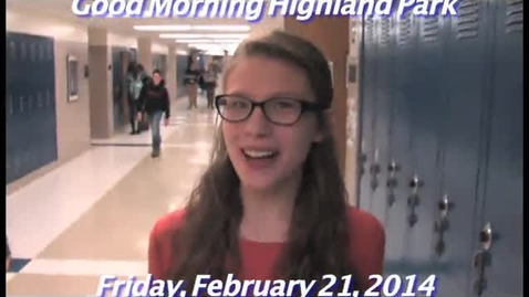 Thumbnail for entry Friday, February 21, 2014