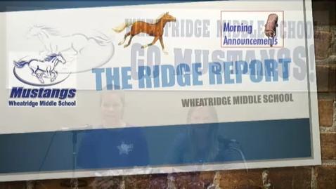 Thumbnail for entry Ridge Report 8-25-17