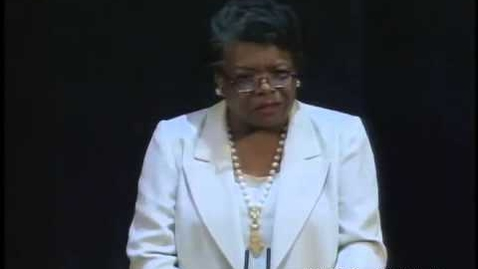 "Thumbnail for entry Maya Angelou reading her poem ""A Brave and Startling Truth"""