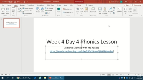 Thumbnail for entry Week 4 Day 4 Phonics Lesson