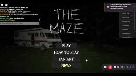 Thumbnail for entry Playing THE MAZE