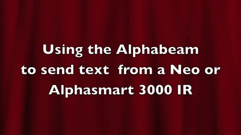 Thumbnail for entry Neo1:   Using Alphabeam to send text from your Neo or Alphasmart to the computer