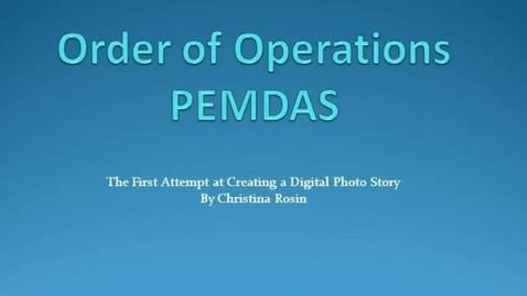 Thumbnail for entry PEMDAS