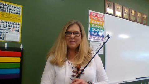 Thumbnail for entry Mrs. Kilbride Intro to 5th Grade Orchestra Video