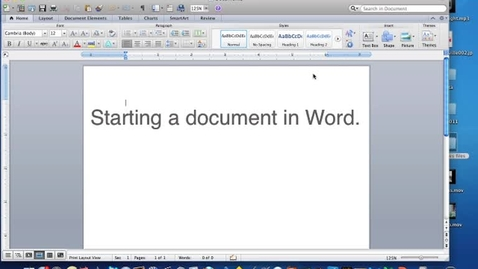 Thumbnail for entry Starting Word--Version, Toolbars and Double-Spacing