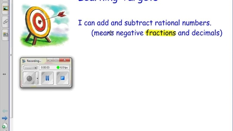 Thumbnail for entry 2.5 Adding Rational Numbers