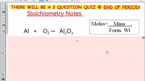 Thumbnail for entry Stoichiometry Notes #1