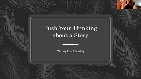Thumbnail for entry Push Your Thinking and Parts of Speech lesson