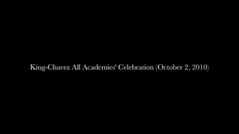 Thumbnail for entry King-Chavez All Academies' Celebration of Academic Success