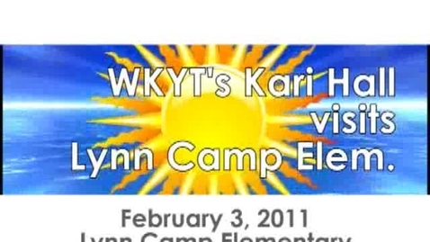 Thumbnail for entry WKYT Meteorologist visits Lynn Camp Elementary
