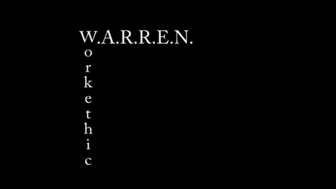 Thumbnail for entry Work Ethic #2 - WSCN (Warren Acronym 2017/2018)