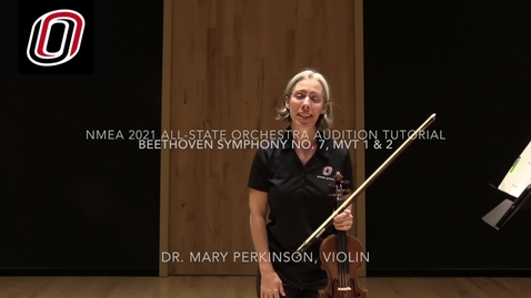 Thumbnail for entry Beethoven, Symphony No. 7, 1st & 2nd mvt: Tutorial for NMEA 2021 violin audition rep