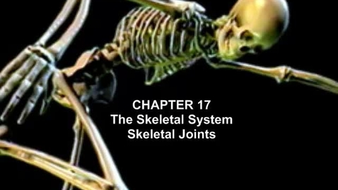 Thumbnail for entry The Skeletal System: Skeletal Joints