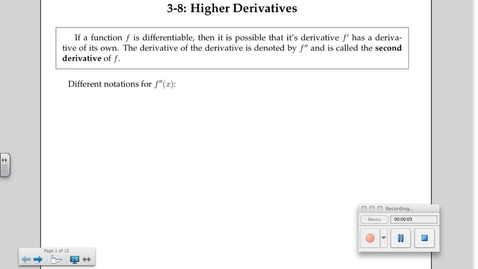 Thumbnail for entry 3-8 Higher Derivatives