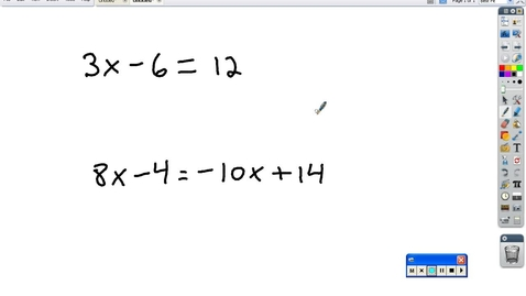 Thumbnail for entry Algebra review 2-3 step equations