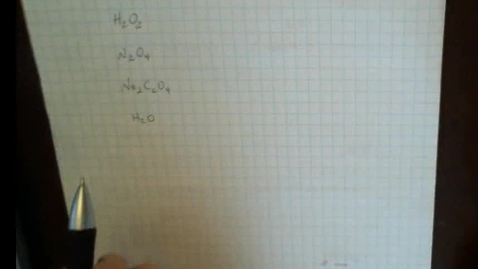Thumbnail for entry Determining the molecular formula